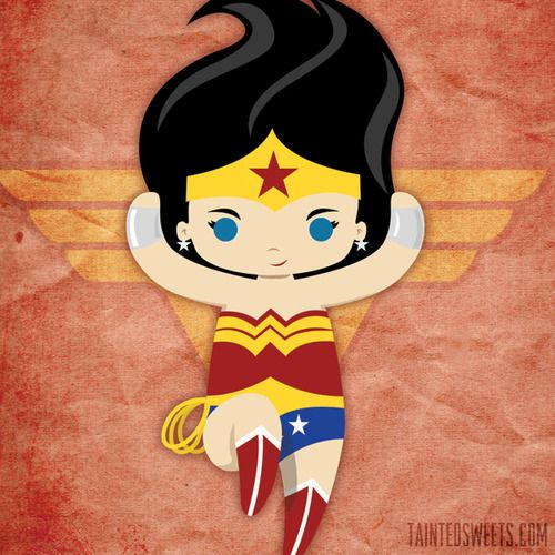 wonder woman chibi! by Tainted Sweets
