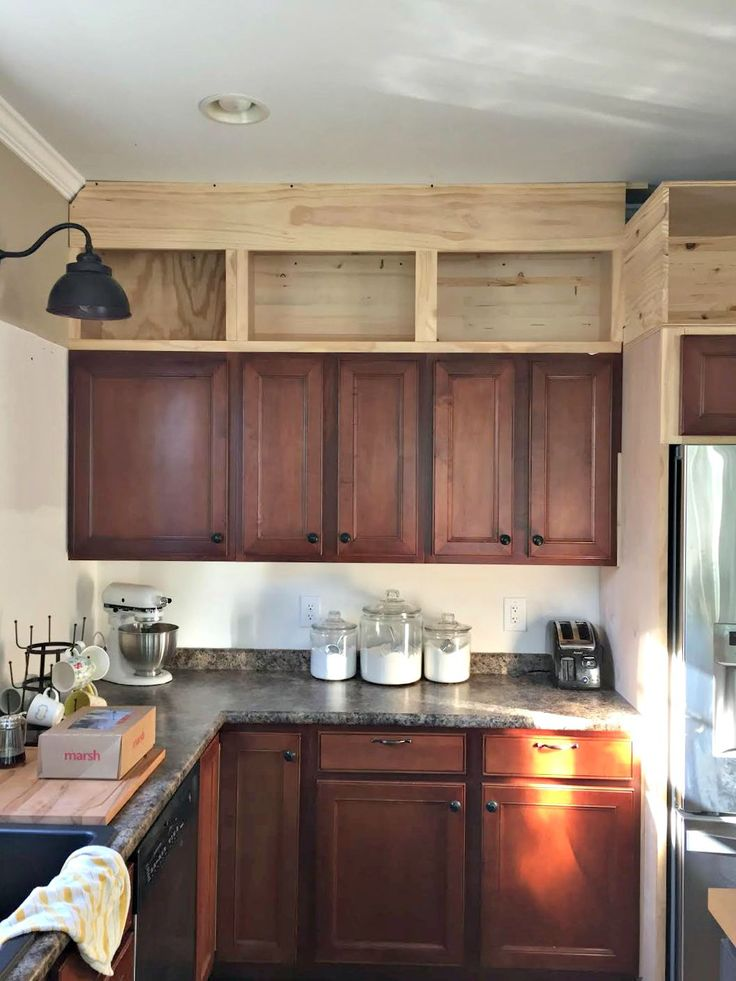 Upper Kitchen Cabinets Above, Ideas To Extend Kitchen Cabinets Ceiling