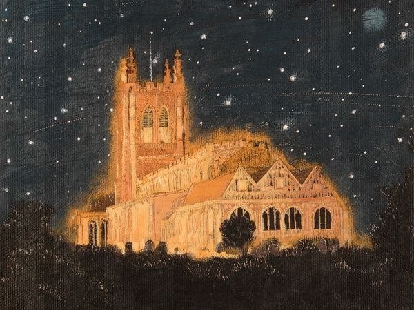 'Holy Trinity Church, Long Melford' by contemporary Suffolk artist Lucy Grossmith.