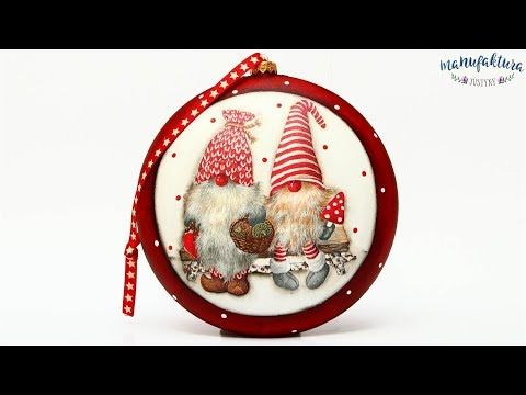Świąteczny medalion z Gnomami - Christmas medalion - tutorial DIY - YouTube