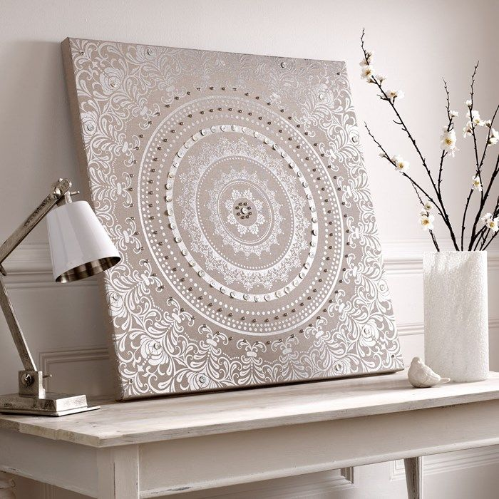Silver Wall Art Embellished And Decorative Wall Art Next