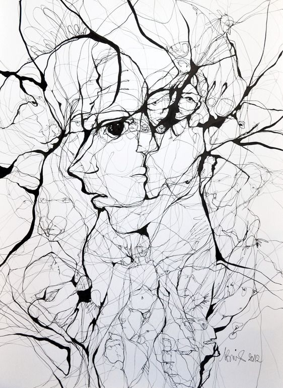 """Breaking"" Pen & Ink Drawing 2012 - Boicu Marinela"