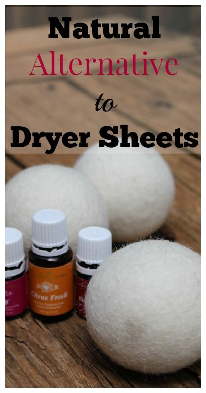 Dryer Balls Natural Alternative to Dryer Sheets {Natural Living, Natural Cleaning, Natural Home, Cleaning Tips, Frugal Living, Essential Oils, Green Living, Green Cleaning} #homemadedryersheets #alternativetodryersheets