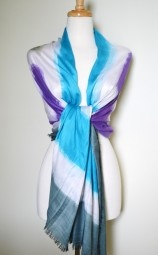 A tie dye scarf at it's best!  Wear this oversized scarf from day-to-night and look instantly stylish. $17.99 Use code PINIT at checkout for 10% off your entire order.Dyes Scarves, 17 99, Codes Pinit, Oversized Scarf, Ties Dyes, Day To Night, Purple Ties, Checkout, Dyes Scarf