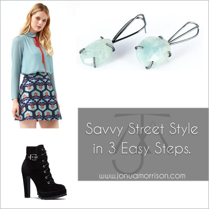 Attaining a savvy street style can be easy and fun.  Some people feel shy to take that initial step from yoga pants to a skirt and blouse, before they hit the streets.  We know it can be daunting, but after you give it a try a few times it's as easy as pie.  And we are fortunate enough in this day and age to have so many small, customer service based boutiques at our disposal.  Most of them, like Ruby Rouge, offering personal styling.  At JMJ, we are also more than happy to help you matc...