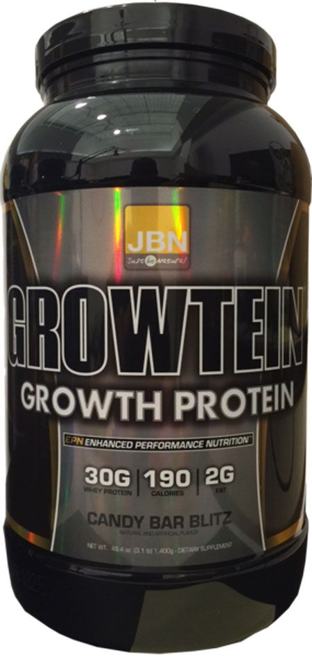 Front Label, Growtein Growth Protein, Candy Bar Blitz
