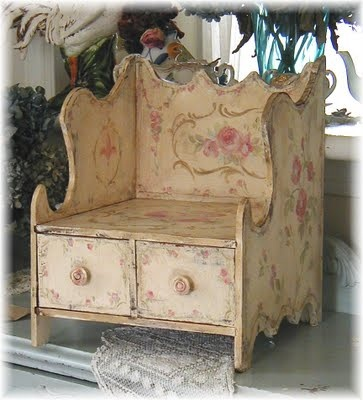 Beautiful rose painted decor from Debi Coules