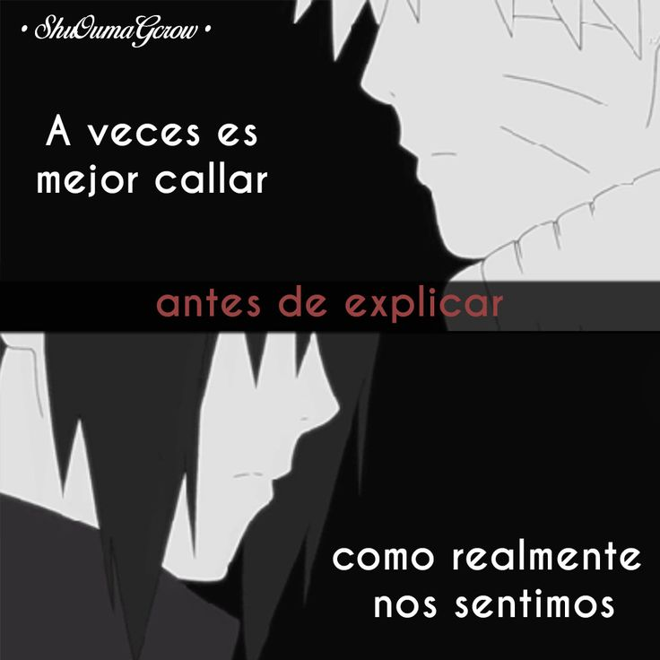 A veces es mejor #ShuOumaGcrow #Anime #Frases_anime #frases