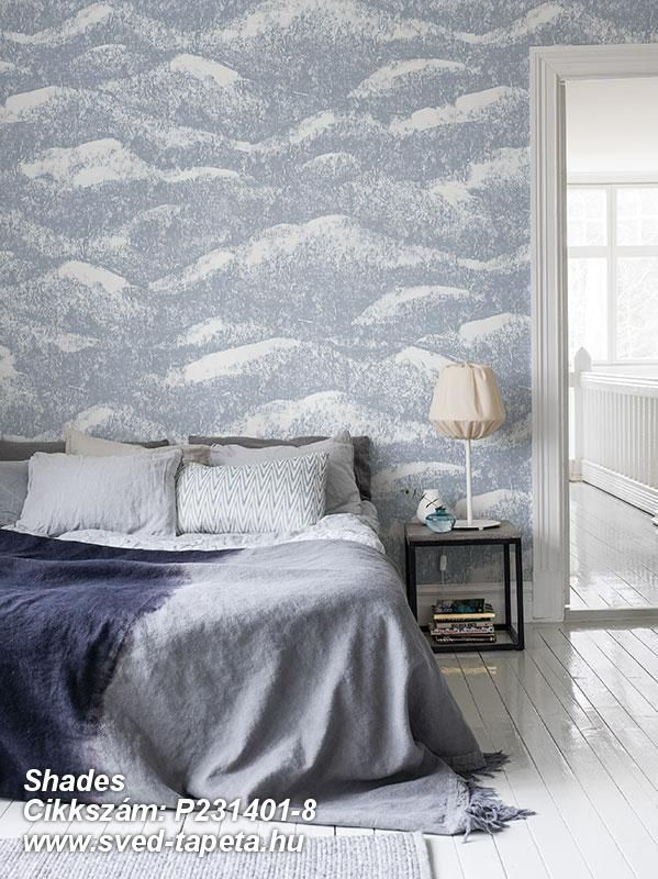 A harmonious motif that can be whatever you want ... waves, clouds, or why not mountain tops? ☞ #wall #decor #wallpaper #design #tapeta #foto #poster