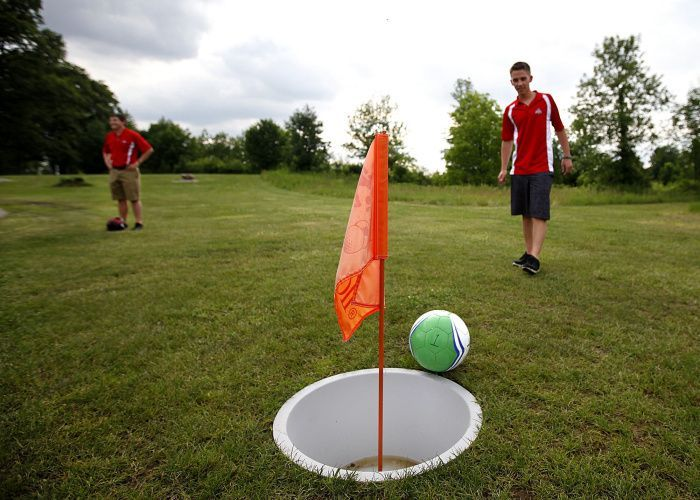Footgolf A Mixture Of Soccer And Golf Requires A Regulation Sized Soccer Ball And Is Played On A Golf Course Following Golf Rules Golf Etiquette Golf Courses