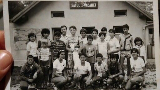 Cosmonautul Dumitru Prunaru's family at Satul de Vacanta Brasov camping with leading students, Ro. 9-20 August 1986. Amintiri. Me, 12 (funny looking :) next to my gymnastics instructor xo...mbb