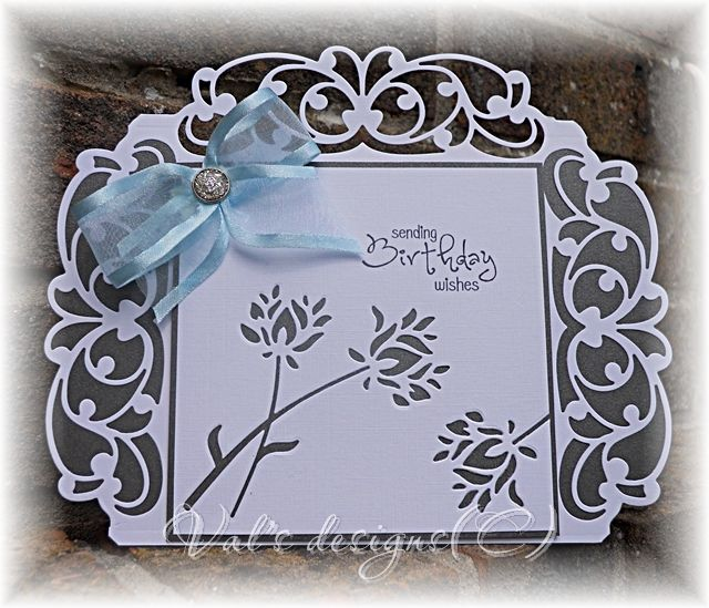 Tonic studio header die, with memory box flower die that cuts out negative.