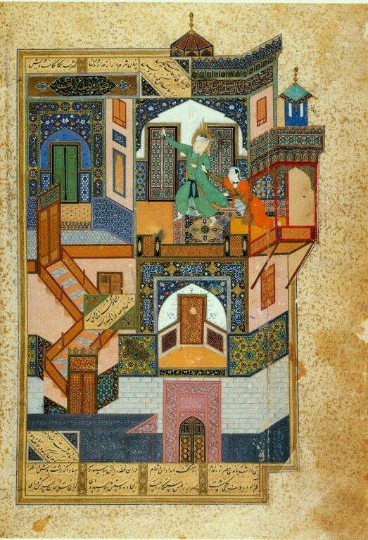 کمالالدین بهزاد گریختن یوسف از زلیخا به سال ۸۹۳ هجری قمری