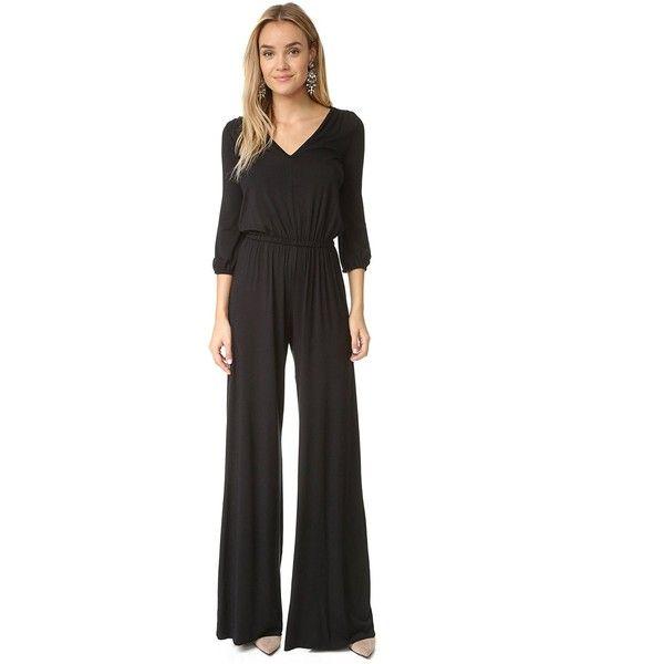 Rachel Pally Women's Clancy Jumpsuit ($246) ❤ liked on Polyvore featuring jumpsuits, rachel pally, sleeve jumpsuit, jump suit, v neck jumpsuit and loose fit jumpsuit