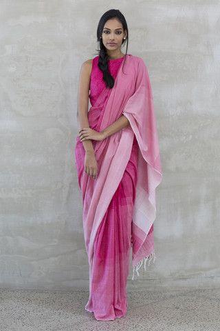 Pink saree - Suwanda Rosa -