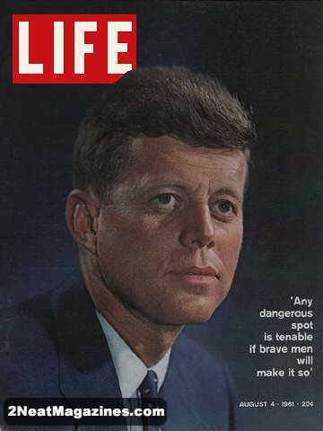 Life Magazine August 4, 1961 : Cover - John F. Kennedy.