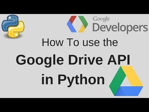 Google Drive API Python Getting Started Upload, Download