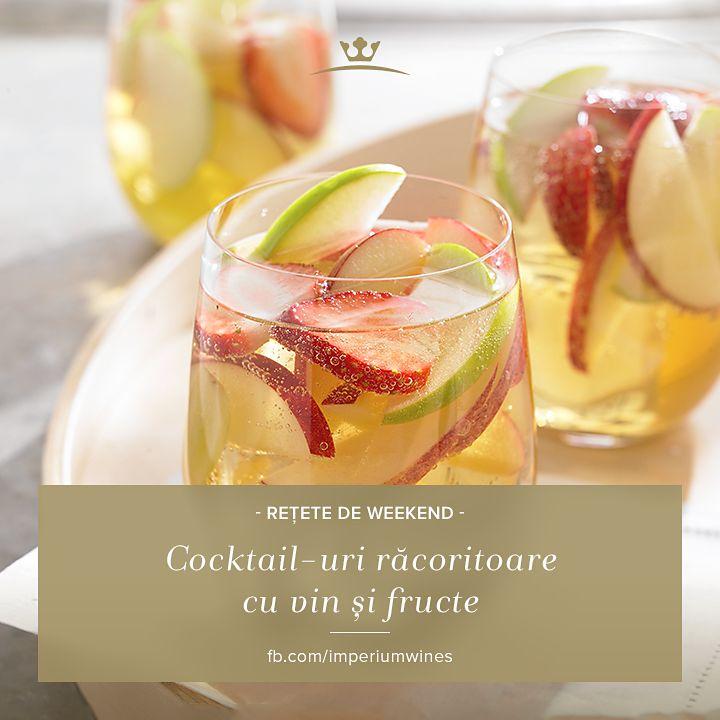 O băutură răcoritoare, cu vin alb și o combinație reușită de fructe, e perfectă pentru sezonul călduros! Vezi aici câteva idei de rețete: http://www.theliquorstore.ro/blog/2013/07/cocktailuri-racoritoare-cu-vin-alb/