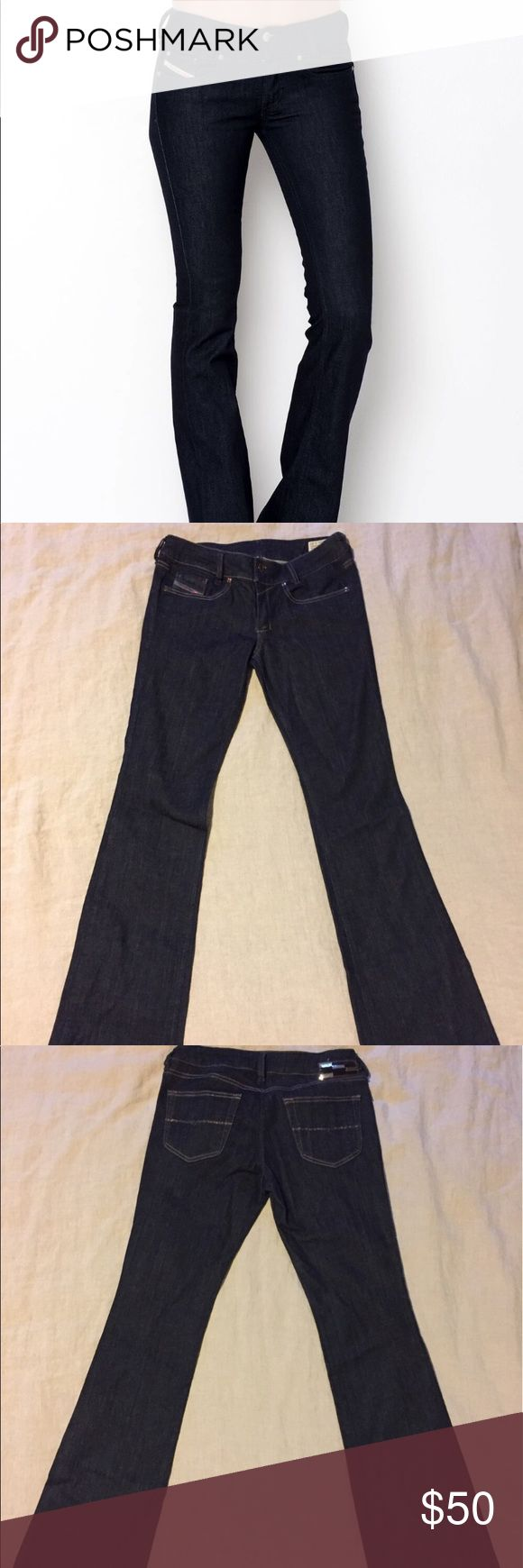 """Diesel Boot Cut Jean Diesel """"Louvely"""" Bootcut denim. Size 31x32, but I'm listing as it fits like an 8/10. Great condition! Diesel Jeans Boot Cut"""