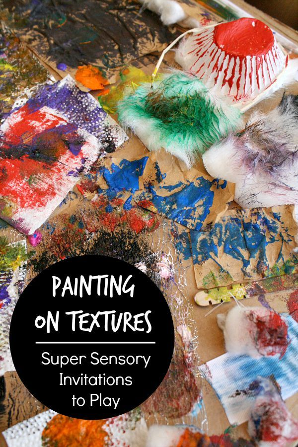 Painting on Textures Sensory Art for Kids~And a new book full of super sensory invitations to play!