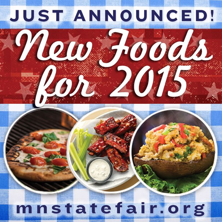 Minnesota State Fair 2015 New Foods announced June 23. Visit mnstatefair.org for all the delectable details!