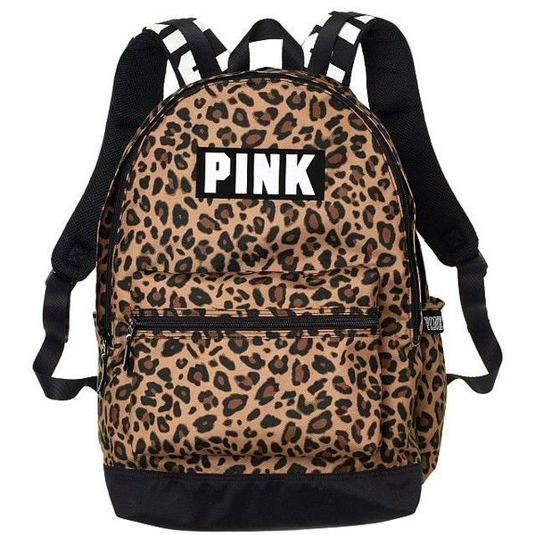 Amazon.com   Victoria's Secret Pink Campus Backpack Animal... ($23) ❤ liked on Polyvore featuring bags, backpacks, white and black backpacks, black and white bag, white and black bag, animal print bags and black white bag