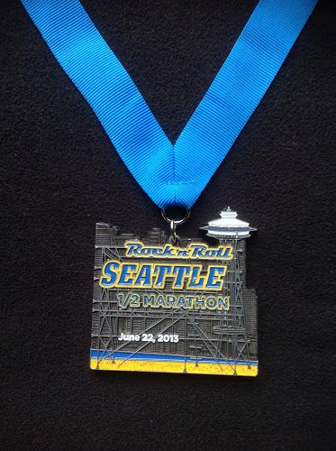2013 Rock 'n' Roll Seattle Half Marathon medal
