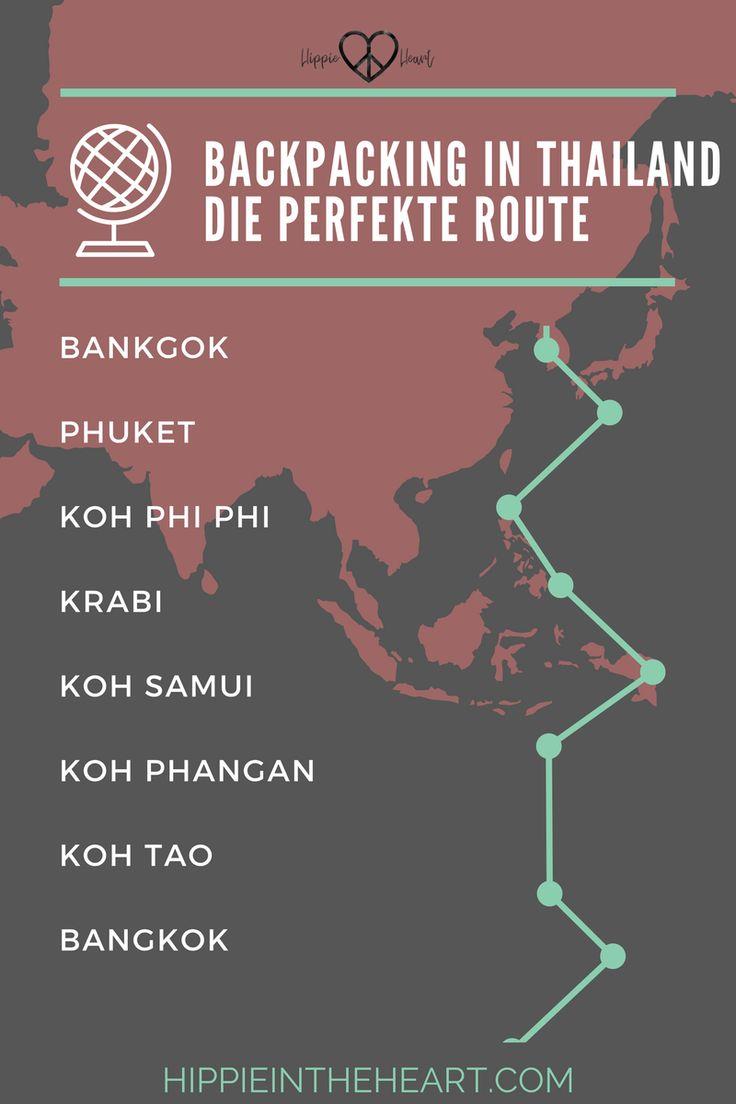 Backpacking-in-Thailand-Die-perfekte-Route. Travel Thailand, Backpacking Thailand, Reisen, Route Thailand