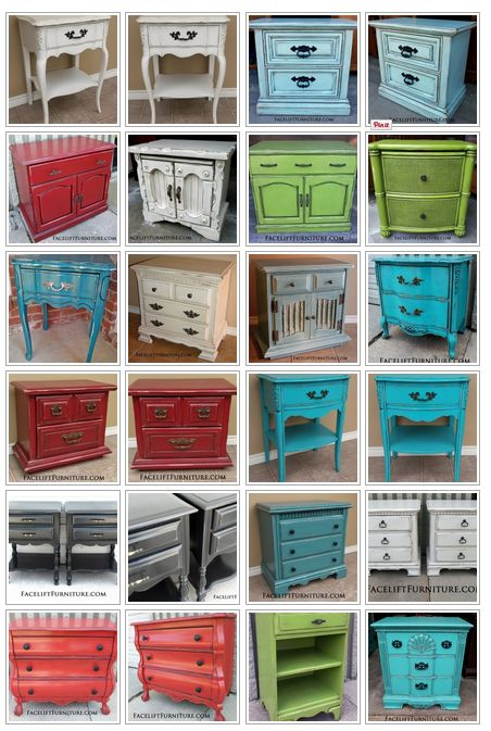 Nightstands are a perfect way to learn how to paint, glaze, and distress furniture! From the Facelift Furniture DIY blog.