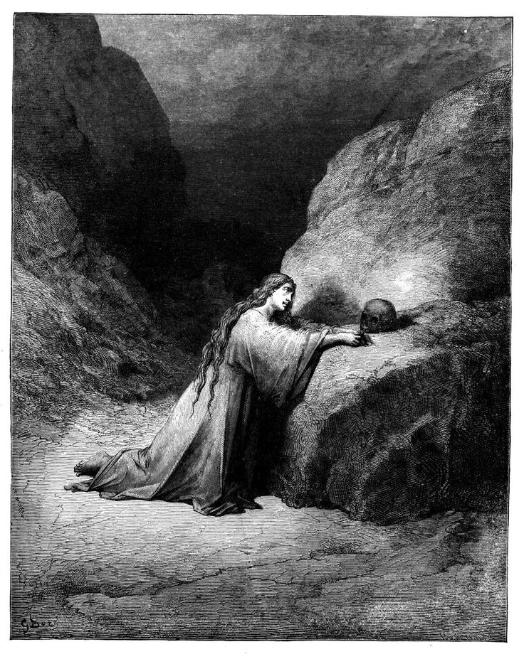 Mary Magdalene Repentant (Gustave Doré). Illustration for the bible. Featured on: EMPEROR -  As the Shadows Rise.