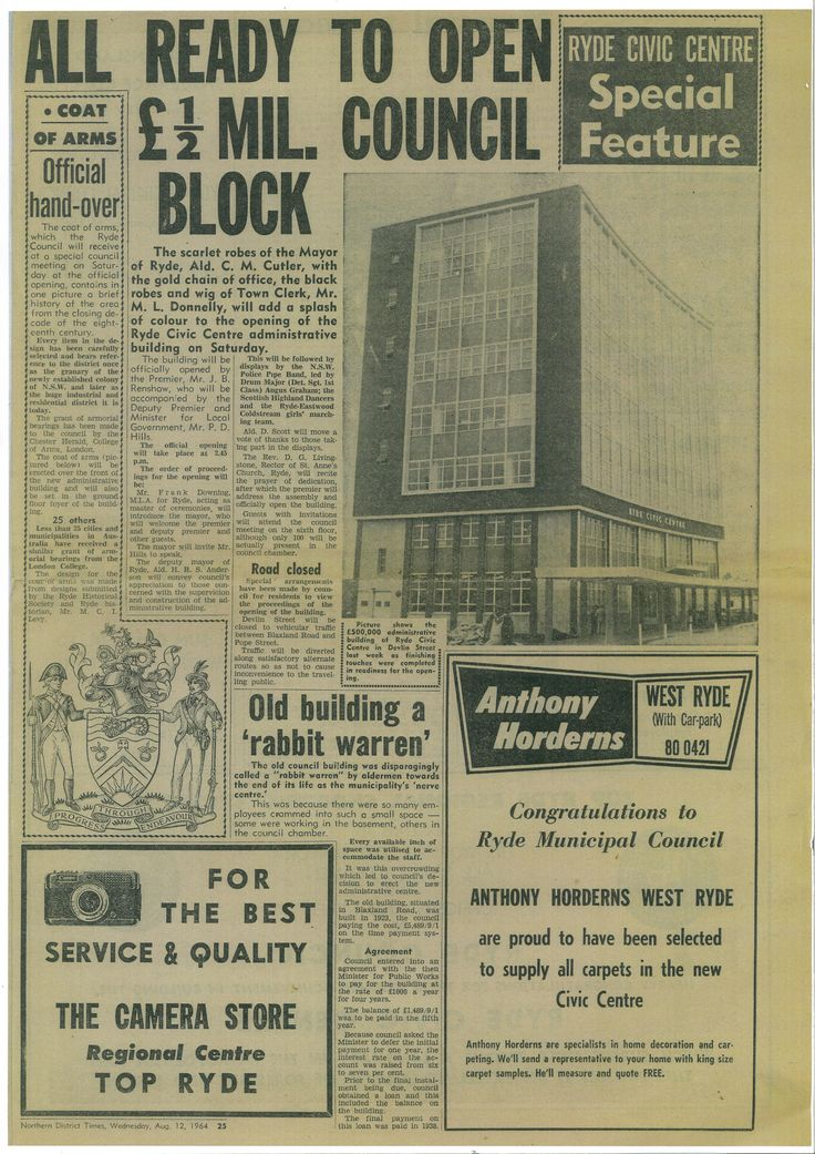 An article published in the Northern District Times on 12 August 1964.