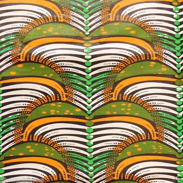 New African Cotton Print Fabric Bright Bold & Permanent Colors Sold Per Yard