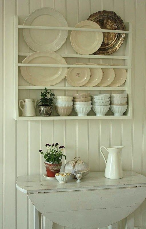 Plate Rack For Display In Dining Area
