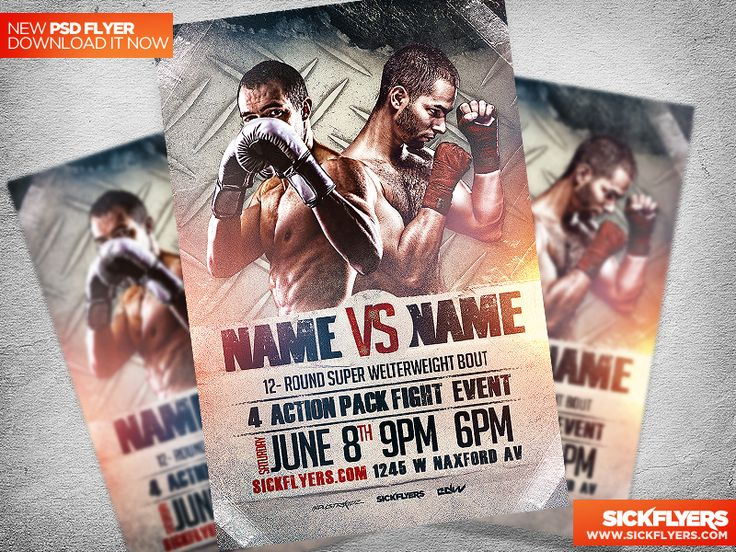 Boxing / MMA Flyer Template PSD by Industrykidz