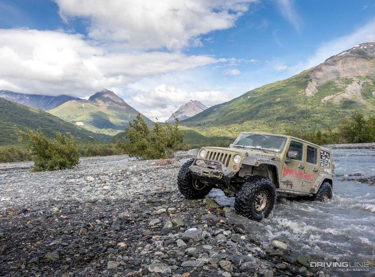 Model: 2013 Jeep Wrangler Unlimited  Engine: 3.6L Transmission: WA580 Transfer case: NVG241 Front axle: Dynatrac ProRock XD60, ARB Air Locker, 5.38 gears Rear axle: Dynatrac ProRock XD60, Auburn Gear Electric Ected MAX, 5.38 gears  Suspension: EVO Mfg. Enforcer kit Tires: 39x13.50R17 M/T Wheels: 17-inch TrailReady beadlock Armor: EVO Mfg. front bumper, skidplates, and tire carrier, Mopar rock rails