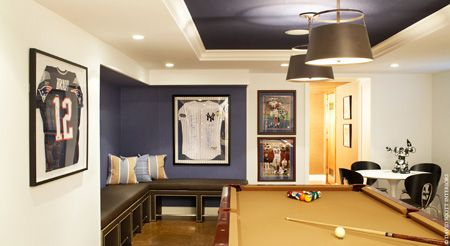Ny Yankees Man Cave Benjamin Moore Midnight Navy 2067 10