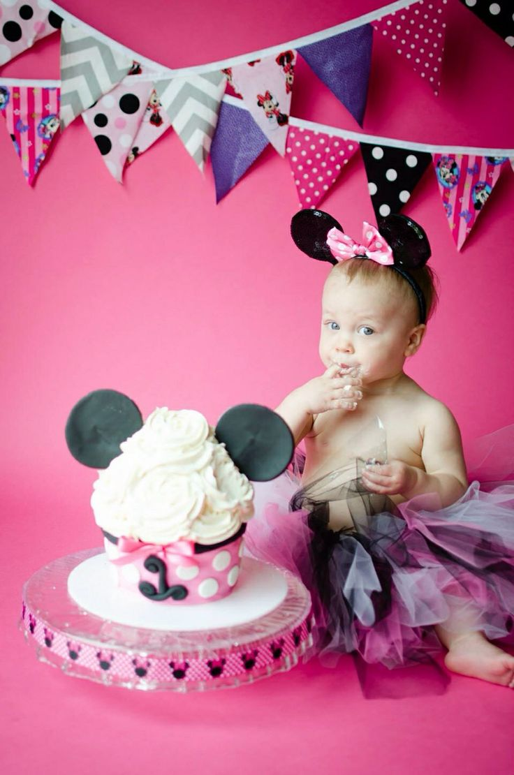 Minnie Mouse Smash Cake Minnie Birthday Mickey 1st
