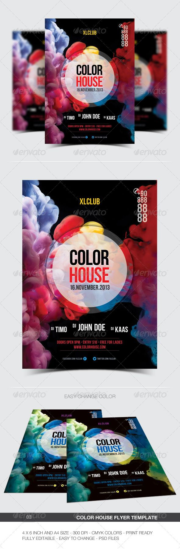 Color House Flyer Poster