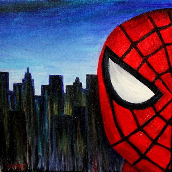 SALE Spiderman Oil Painting By CarmieDPaintings On Etsy
