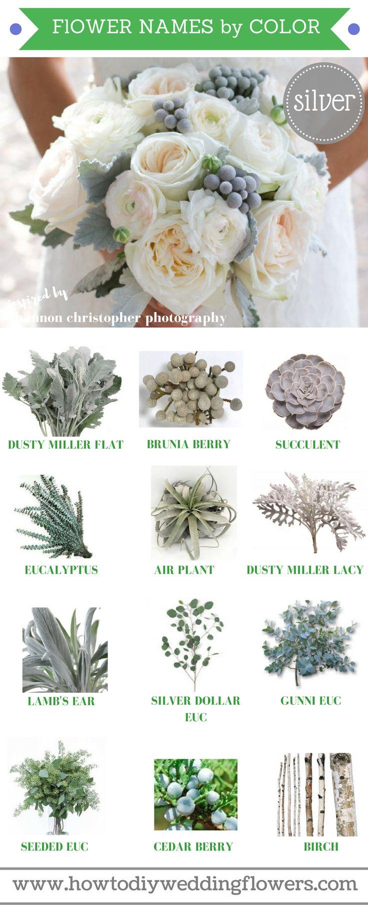 Wedding Trends 2018 ! How To DIY Wedding Flowers! Silver Grey 2018 Wedding Flower Trends. Easy DIY Tutorials and How to Tips & Tricks! #diywedding #diyflowers #howtomakeabouquet www.howtodiyweddingflowers.com