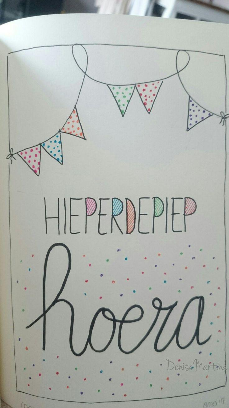 #Birthday card #verjaardag #handletteren #dutchletttering #handlettering #DeniseMartina