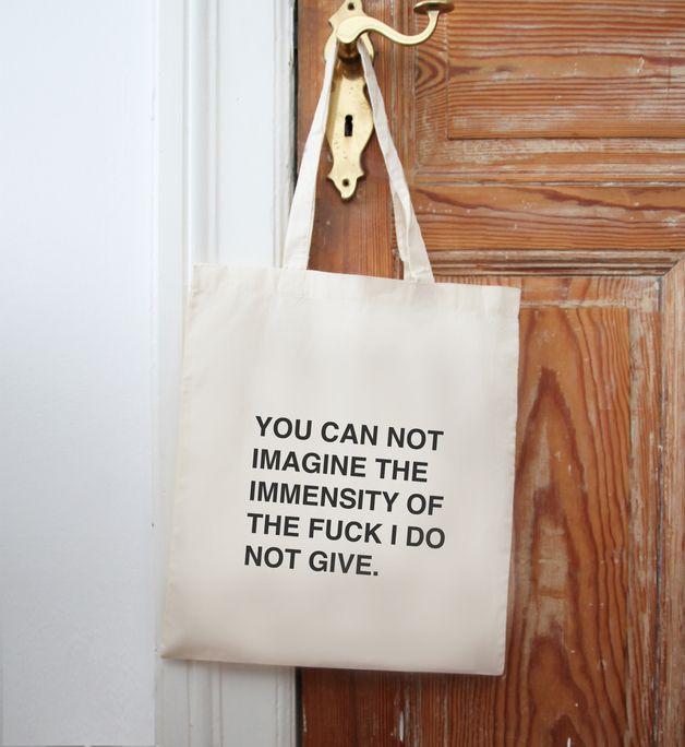 "Jutebeutel ""You can not imagine ..."" // tote bag by Eulenschnitt via DaWanda.com"
