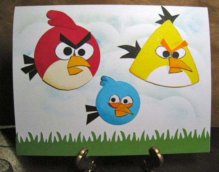 18 best angry birds cards images on pinterest punch art for Pre punched paper for crafts