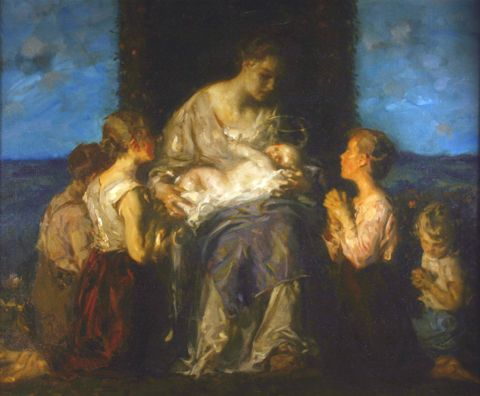 Holy Family, c. 1924, Carl von Marr, Museum of Wisconsin Art, 0319.