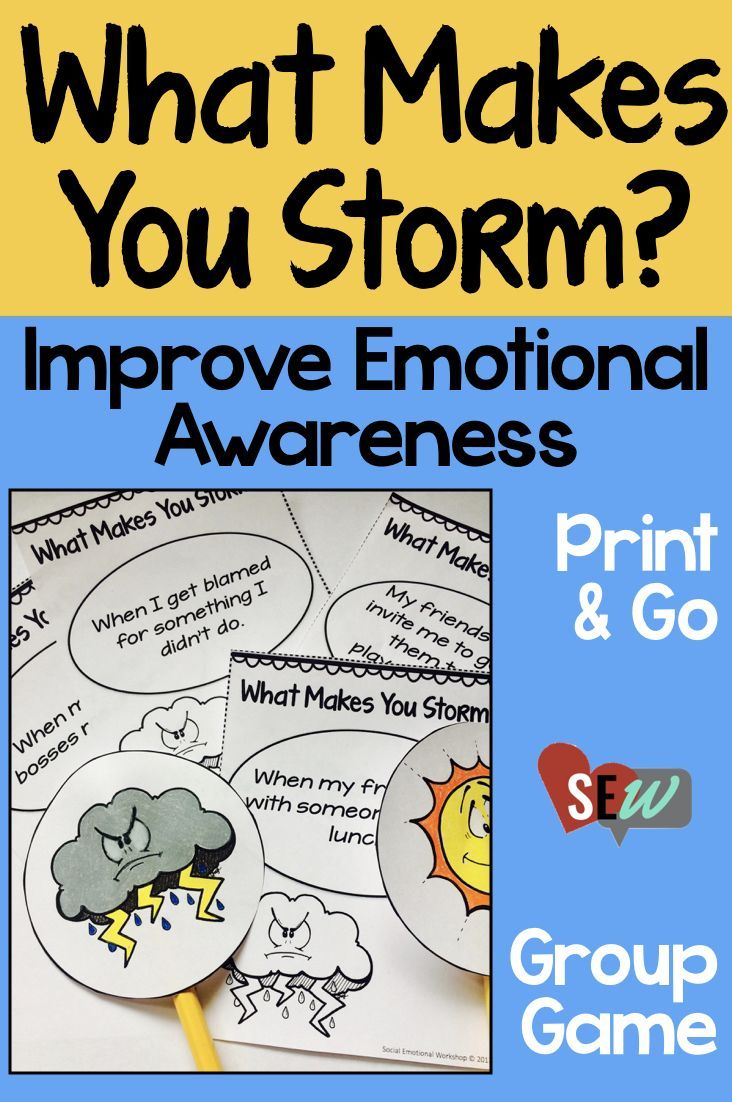 This small group game is a great way to start an anger management group in lower elementary. It will help students become aware of their emotions, specifically what events make them feel angry. The game uses a storm cloud as a metaphor for anger and is ap