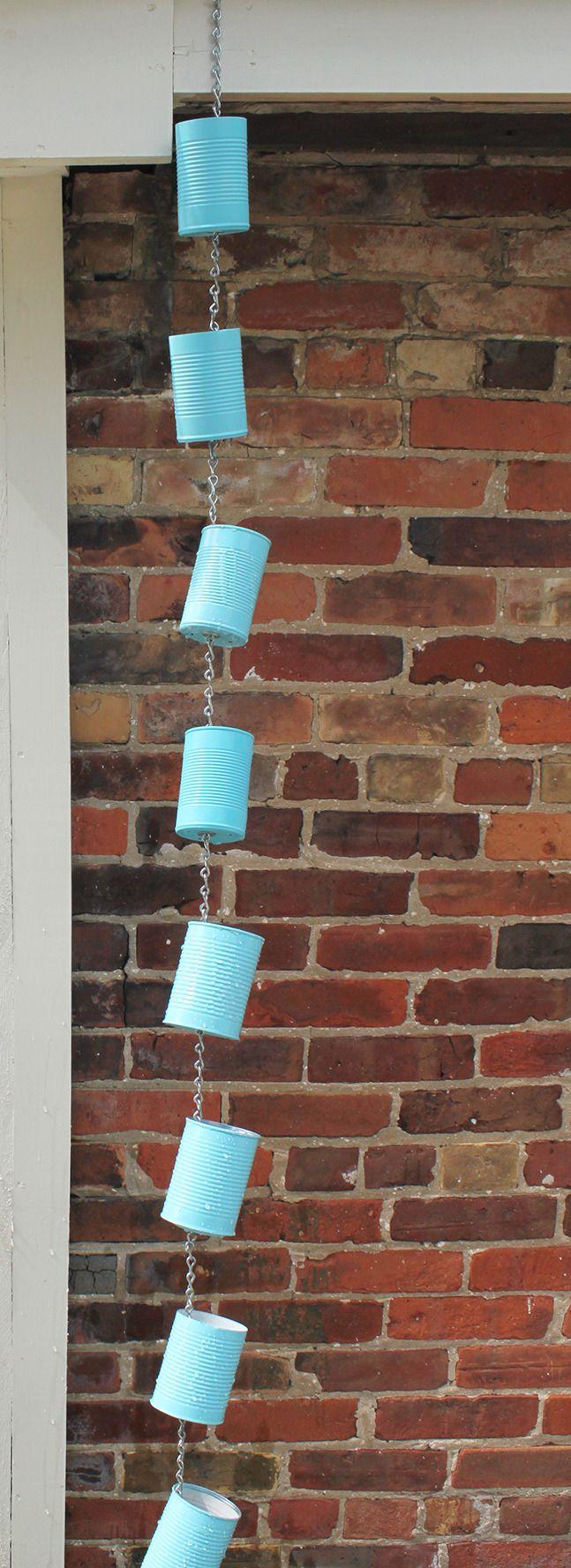 Soup Can Rain Chain DIY | Our Homes Magazine