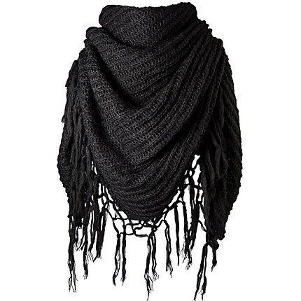 Dames sjaal met franjes van Barts.
