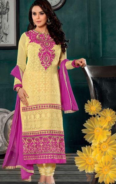 Picture of Ravishing Yellow Designer Salwar Kameez