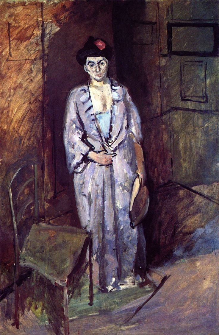 The Athenaeum - MATISSE, Henri French Fauvist Painter and Sculptor (1869-1954)_Mme Matisse in a Japanese Robe- circa 1901