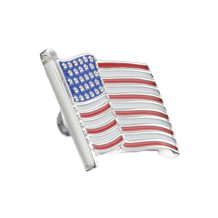 Croft & Barrow® American Flag Lapel Pin, Men's, multicolor